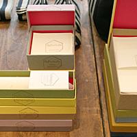 紙の家、パペリタロのレターセット。箱の色がきれい。