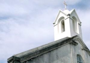 フランス伝来の教会建築とそうめん。