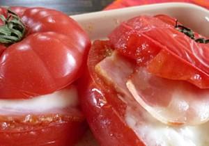 白ご飯に合うフレンチ - 7 - トマトのモッツァレラチーズとベーコン詰め