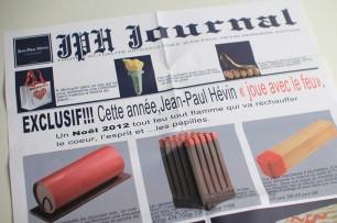 プレス発表の際に用意された『ジャンポールエヴァン(JPH)ジャーナル』。素敵なアイディア!