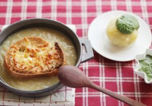 TOTOSK KITCHEN Vol. 8 セージオニオングラタンスープと緑色のクリームソース