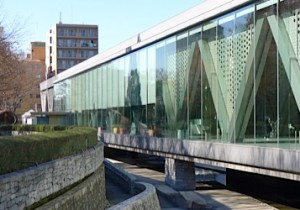 東京都現代美術館の池を眺めながら、満足ランチ