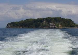 ヨコスカの港から船に乗って、 日帰り無人島体験