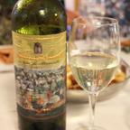プーリアの白ワイン。それほど重たくなく鶏肉料理との相性もよい。