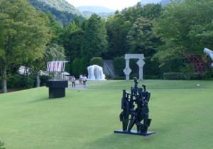 箱根 彫刻の森美術館足湯の隣りのギャラリーカフェで、富士山スイーツを楽しむ彫刻の森。