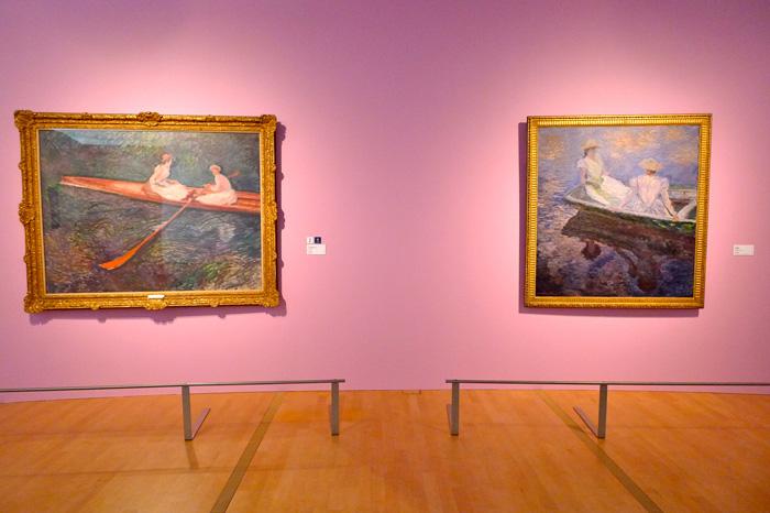 『バラ色のボート』と『舟遊び』、両横綱のそろい踏み