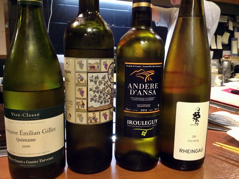 白ワインだけでも多種多様