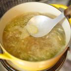 3. 水を入れ沸騰させ灰汁をとる。