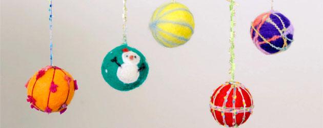 12/15(日) 「フェルトのオーナメント」 (予約制)クリスマスツリーや部屋に飾り付けるフェルトのオーナメントを2個作ります。