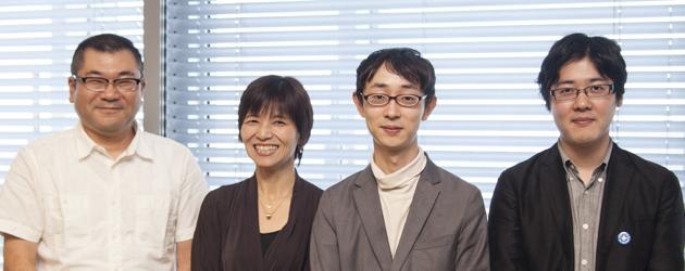 右から大西連さん、イケダハヤトさん、中空麻奈さん、そして片岡英彦さん。photos / 井上 昌明