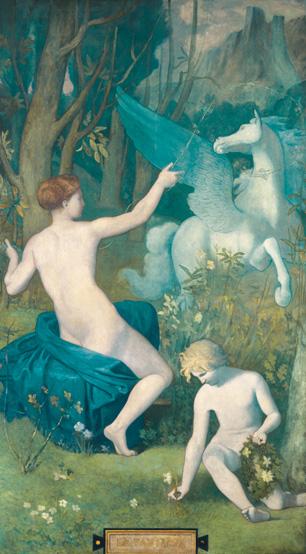 『幻想』 1866年 油彩・カンヴァス 大原美術館蔵 264.0×147.6cm