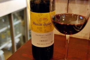この日は熊本ワインの赤。新しいワインが次々と