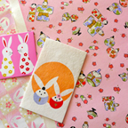 春らしく、ひな祭りと、桜にうさぎの千代紙、そしてぽち袋