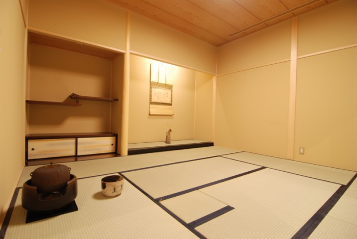 『コレド室町3』3F、和に親しむサロン『橋楽亭』。茶室の精神「一期一会」を現代的に解釈。新しい和の世界を体験できます。