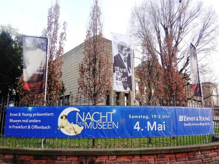 シュテーデル美術館ではなんと夜中の2時まで深夜開館をしていました。