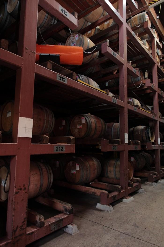 樽は6段で積まれている