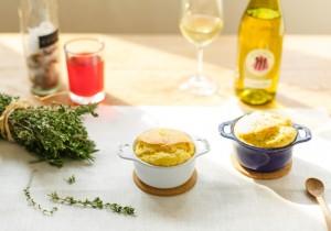 TOTOSK KITCHEN Vol. 25 エルブ・ド・プロヴァンス3種のチーズを使ったスフレ・ド・プロヴァンス。