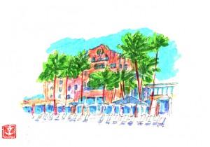 土屋孝元のお洒落奇譚。   ワイキキビーチ『ピンク・パレス』の佇まいとオススメの朝食レストラン。