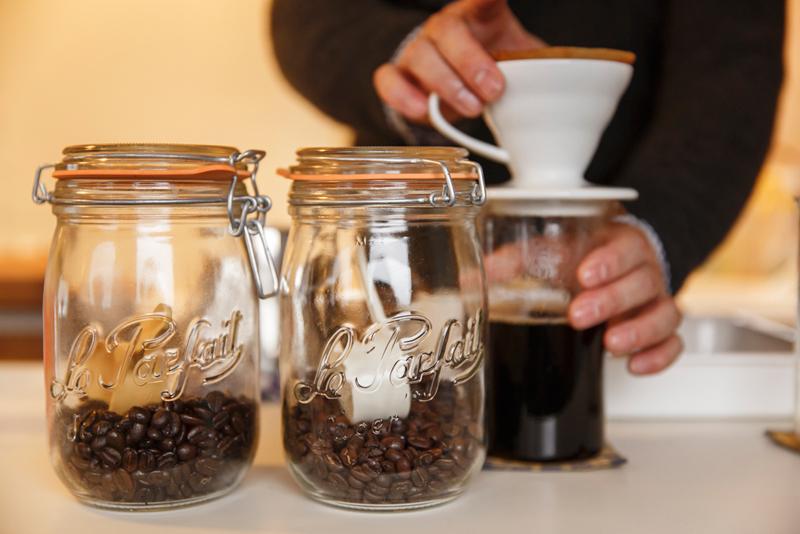 コーヒーは2種類。グアテマラをベースにしたコクのあるオリジナルブレンドRyusenkei Brend No.01 グアテマラにホンジュラスやコスタリカをブレンドしたすっきりとしたきれいな酸のあるRyusenkei Brend No.03