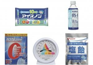 健康トレンドランキング vol. 5  こわ~い熱中症にならないために!  常備したい熱中症対策ランキング。