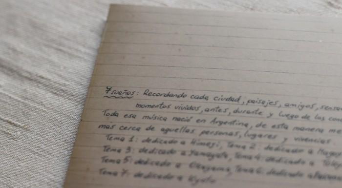 キケ・シネシの手書きのメッセージ 7 suenos
