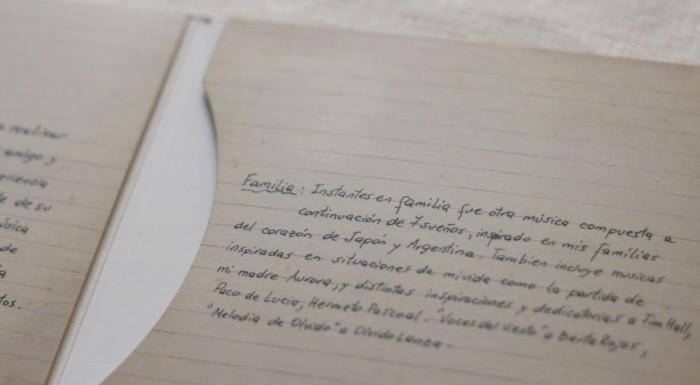 キケ・シネシの手書きのメッセージ Familia