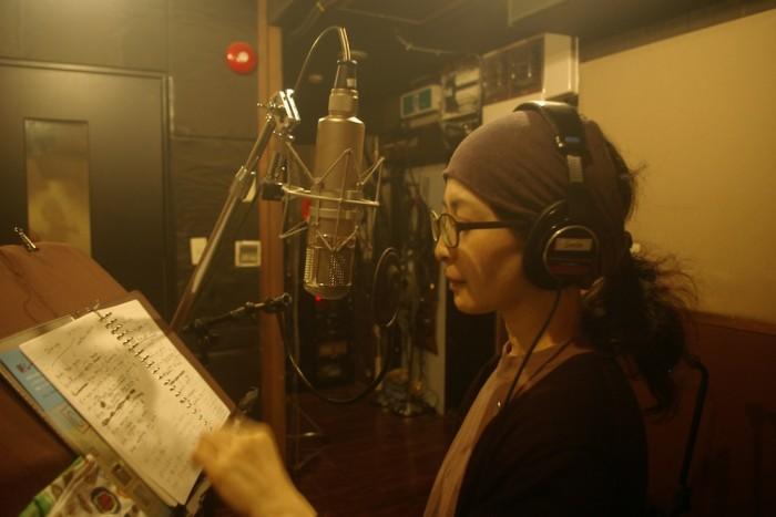 レコーディング・スタジオにて