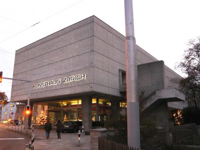 初めて訪れた時のチューリヒ美術館外観。スイス・フランを一銭も持っていないことに気づきませんでした。