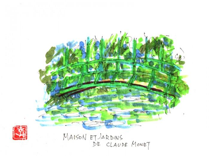モネさんの睡蓮の庭。太鼓橋です。