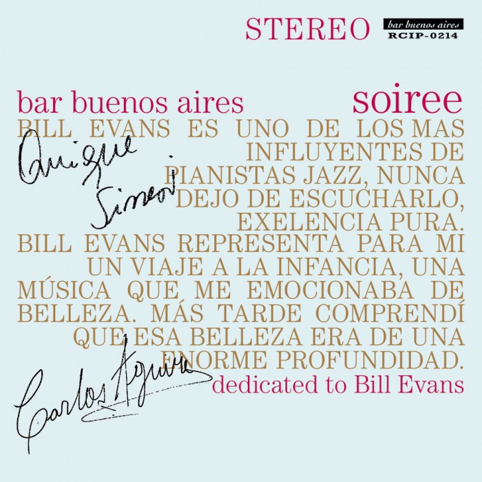 『bar buenos aires soiree- dedicated to Bill Evans (バー・ブエノスアイレス 〜ソワレ〜)』 V.A.