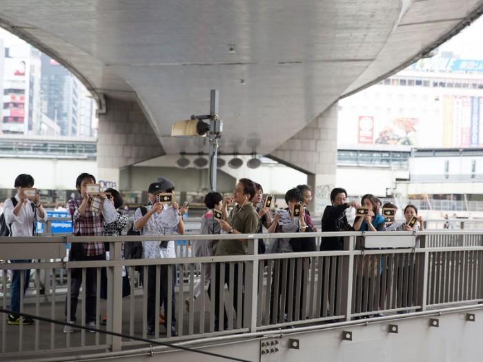 渋谷の街をAR(拡張現実)で探検しようという、『ギャラクシーラボ』よる素敵なツアー。