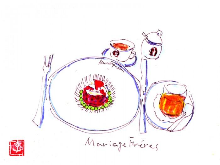 マレ本店『マリアージュ・フレール』。ヌーベルフレンチのランチセット、見た目も味もおいしくいただけました。© Takayoshi Tsuchiya