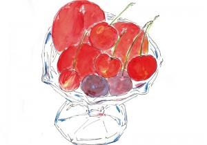 土屋孝元のお洒落奇譚。冬は柚子、初夏は枇杷、秋は葡萄に柿、 絵に描く果物について。