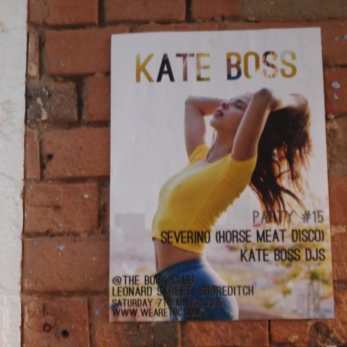 『KATE BOSS』はファンク&イタロのディスコイベント。