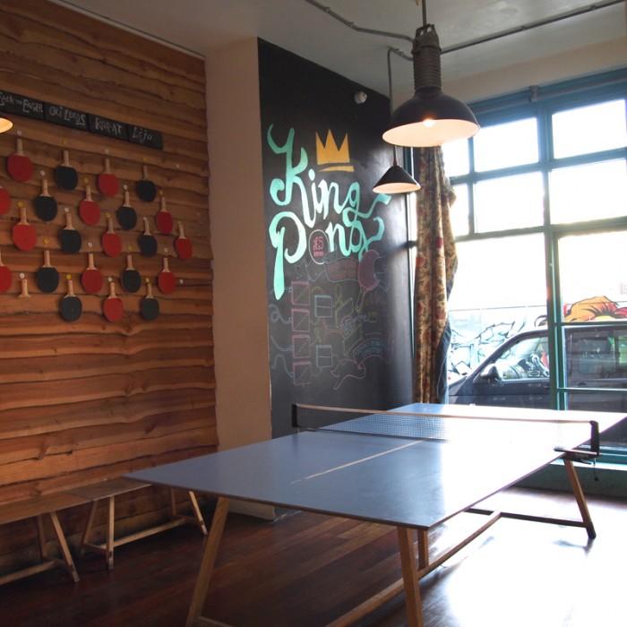 卓球イベント『KING PONG』も定期的に開催。