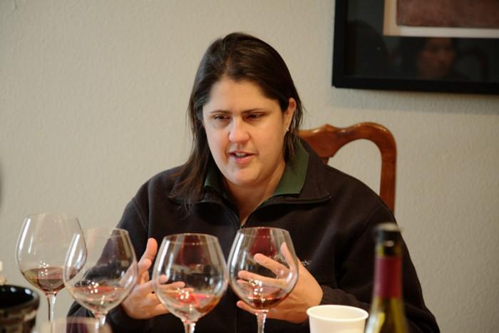 女性ワイン・メーカーのクリッシー・ウィットマン