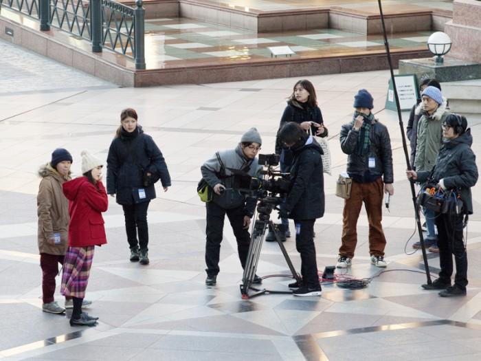 『5windows eb』、『5windows is』は映像祭を前に恵比寿ガーデンプレイスのほか、街中で撮影された。