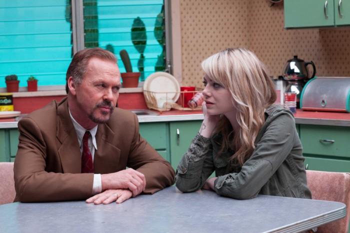 娘のサム(エマ・ストーン)は「パパは忘れられた人よ」とリーガンに対して手厳しい。