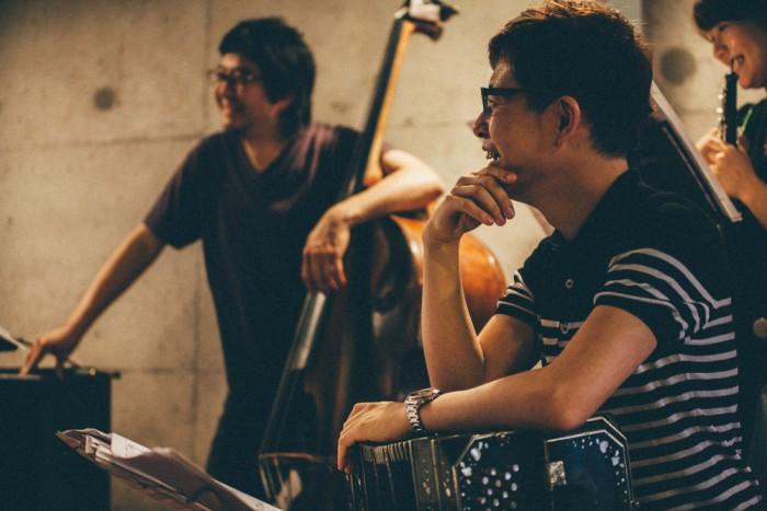田中伸二(b)、北村聡(bandoneon)、関美矢子(oboe) Photo by Takeshi Yoshimura