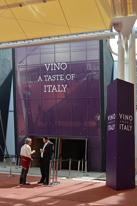 ワインパビリオン「VINO A TASTE OF ITALY」。
