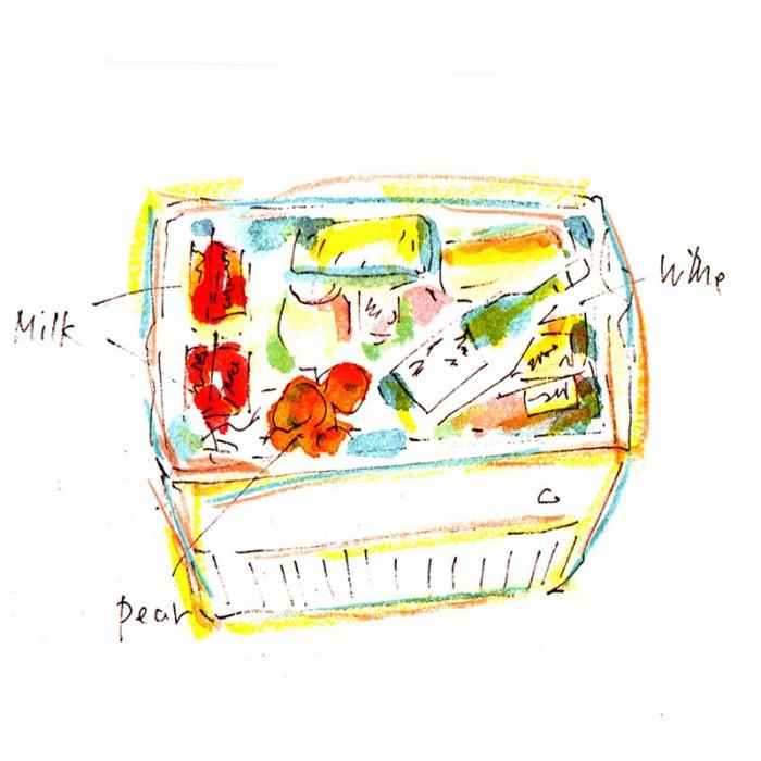水彩とダーマトグラフ、色鉛筆で。© Takayoshi Tsuchiya