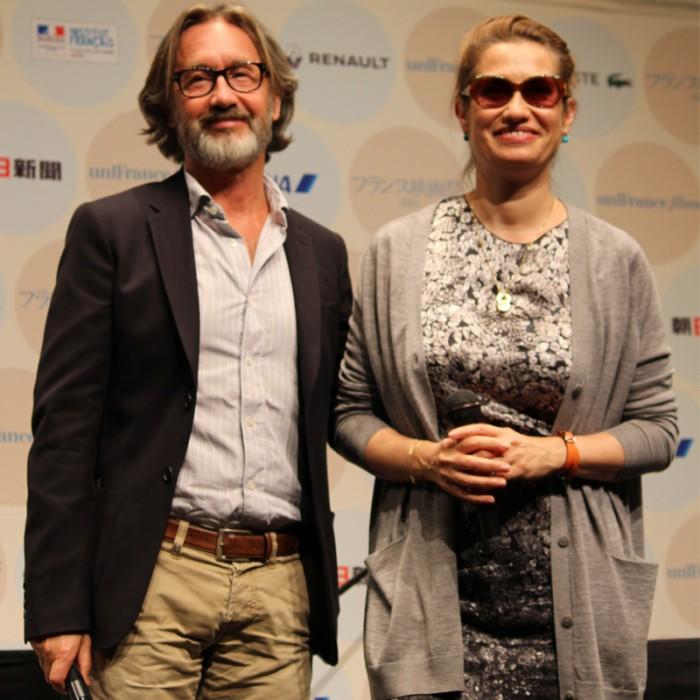 『フランス映画祭2015』では団長を務めたエマニュエル・ドゥヴォス(右)とマルタン・プロヴォ監督 photo / reico watanabe