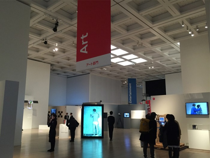 『文化庁メディア芸術祭受賞作品展』メイン会場は『国立新美術館』2階Eのスペース。