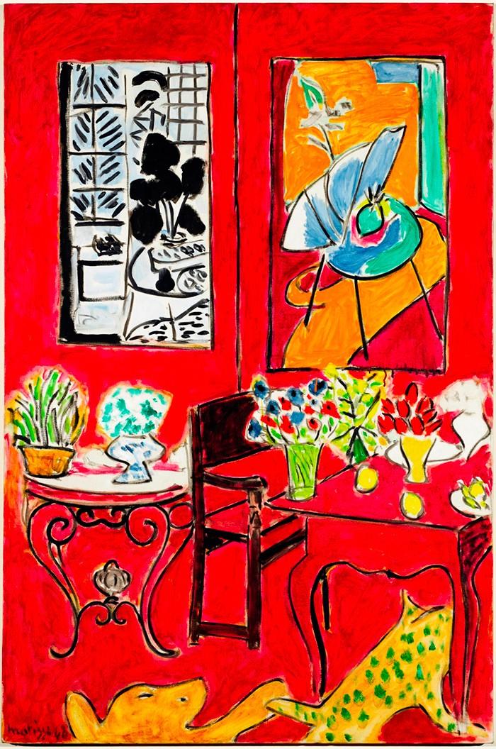『ポンピドゥー・センター傑作展覧会 ―ピカソ、マティス、デュシャンからクリストまで ―』より。『大きな赤い室内』アンリ・マティス 1948年 Photo: Bertrand Prévost - Centre Pompidou, MNAM-CCI