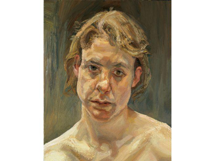 ルシアン・フロイド『裸の少女の頭部』1999年、油彩、カンヴァス、©Lucian Freud Archive/Bridgeman Images UBS Art Collection 顔面の筋肉の盛り上がりがまるで地勢図のようである、というのはキュレーター成相さん談。