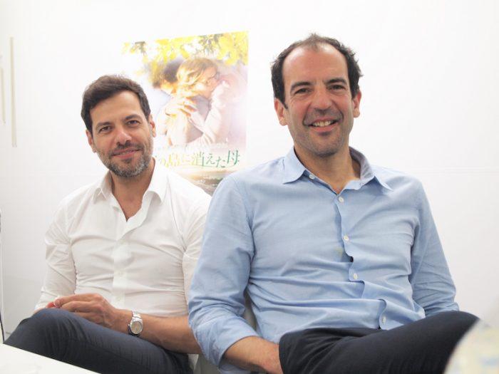 『フランス映画祭 2016』に来日した『ミモザの島に消えた母』主演のローラン・ラフィットさん、フランソワ・ファヴラ監督。