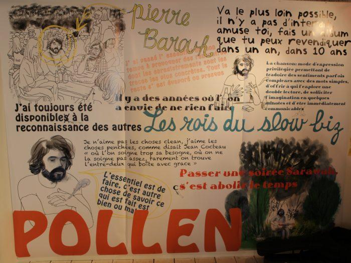 シャルルさんによる『ポレン POLEN』の頃のサラヴァ。『POLEN』は1983年、高橋幸宏はじめピエールを敬愛するミュージシャンたちの熱いリクエストに応えて実現した日仏合作アルバム。