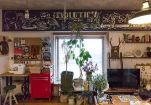dacapo×TOKOSIE梁に描いたサインアートで 自分らしい空間に