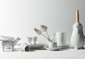 dacapo×TOKOSIEフランス製の白い業務用食器  ピリヴィッツ