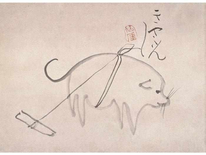 『犬図』仙厓筆、江戸時代、福岡市美術館蔵(石村コレクション)